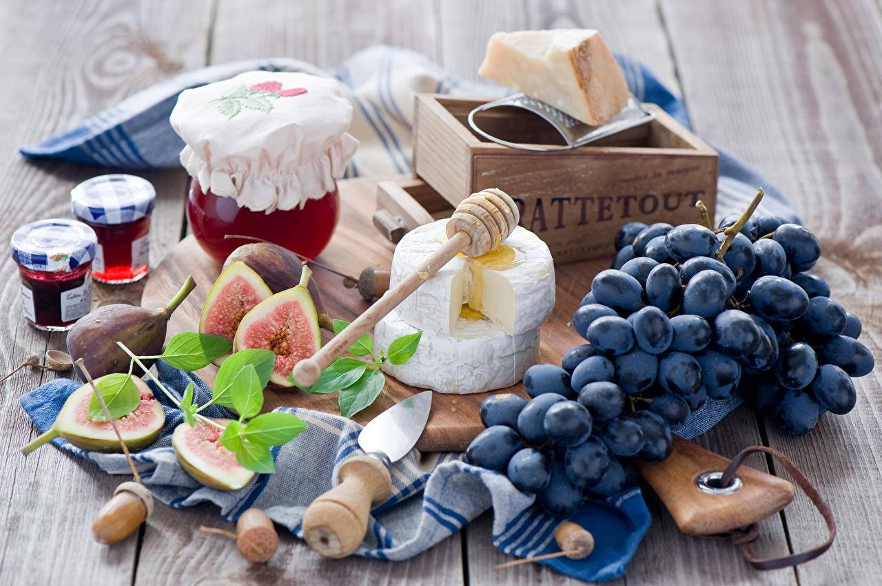 Картинки Варенье Сыры Виноград Пища джем Повидло Еда Продукты питания
