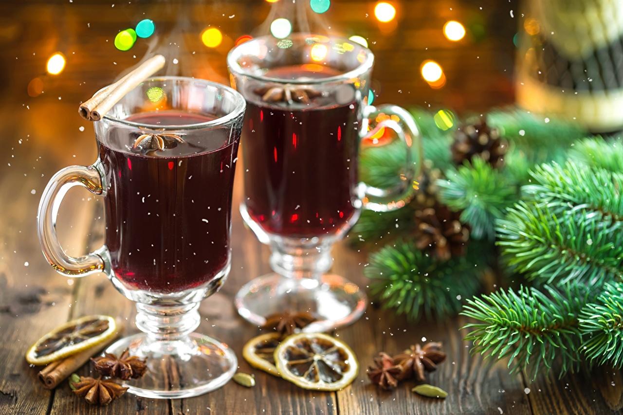 Фотография Рождество две Еда кружки напиток Новый год 2 два Двое вдвоем Пища Кружка кружке Продукты питания Напитки