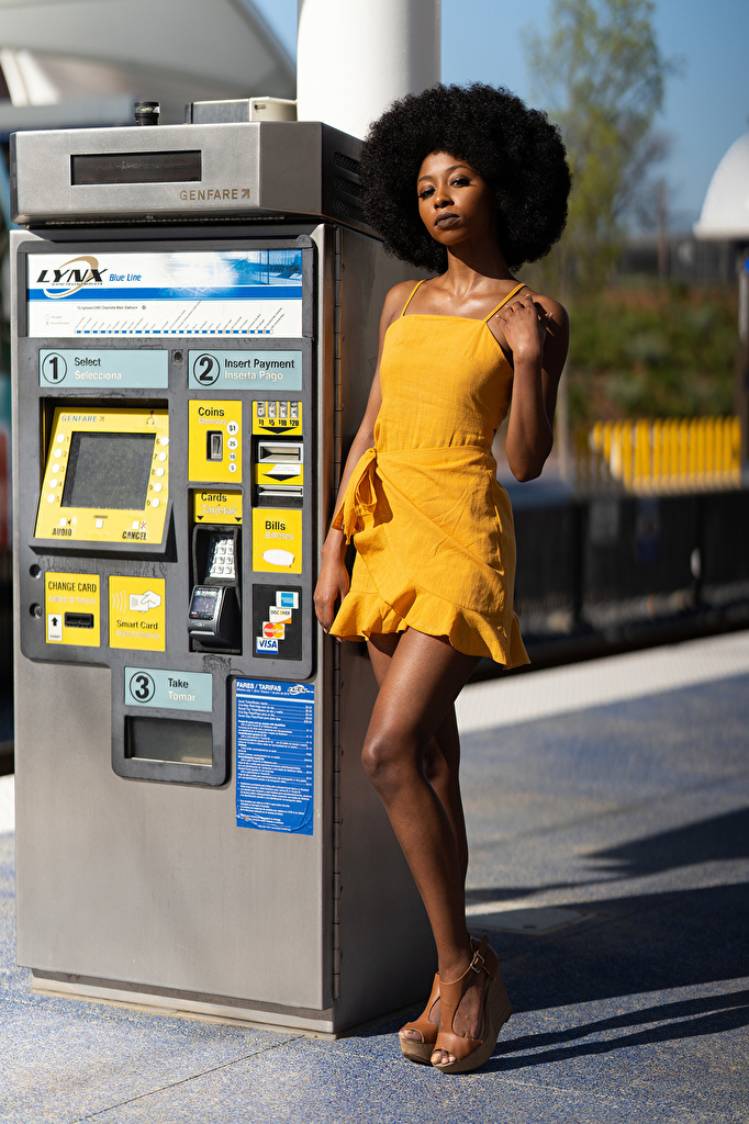 Фотография Janae Fulton позирует негры девушка Ноги платья  для мобильного телефона Поза Негр Девушки молодая женщина молодые женщины ног Платье