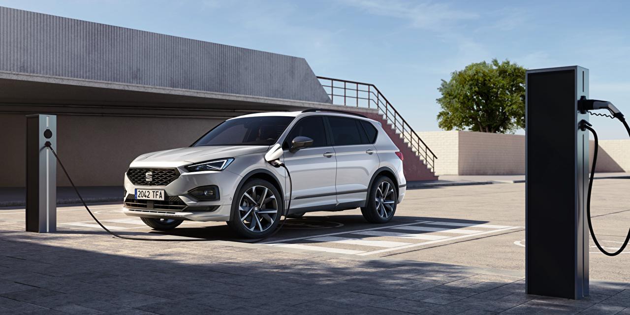 Обои для рабочего стола Seat Кроссовер Tarraco FR eHybrid, 2020 -- Гибридный автомобиль Металлик Автомобили Сиат CUV авто машины машина автомобиль