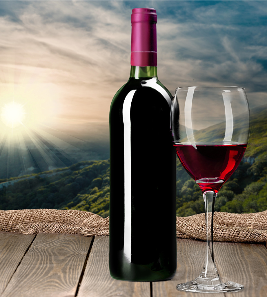 Картинки Вино Пища бокал Бутылка Доски Еда Бокалы бутылки Продукты питания