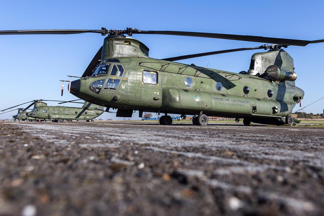 Фотография Вертолеты Royal Netherlands Air Force, Boeing CH-47D Chinook Авиация вертолет