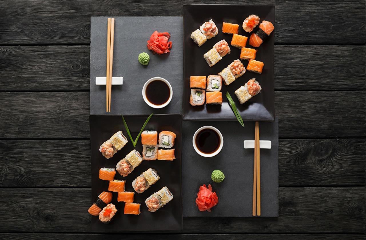 Фото Суши Еда Палочки для еды суси Пища Продукты питания
