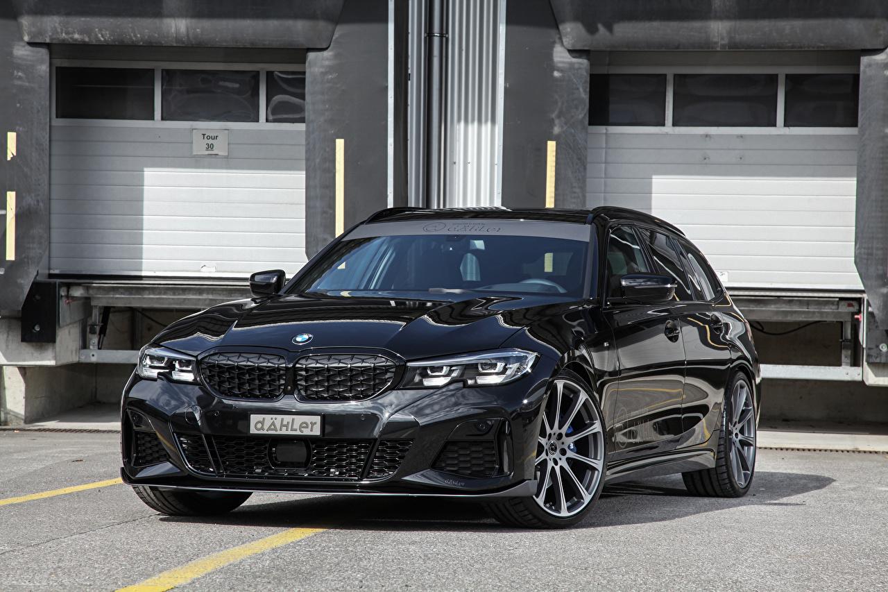 Фотография BMW Универсал 2020 dahler M340i xDrive Touring черные авто Металлик БМВ черная Черный черных машина машины Автомобили автомобиль