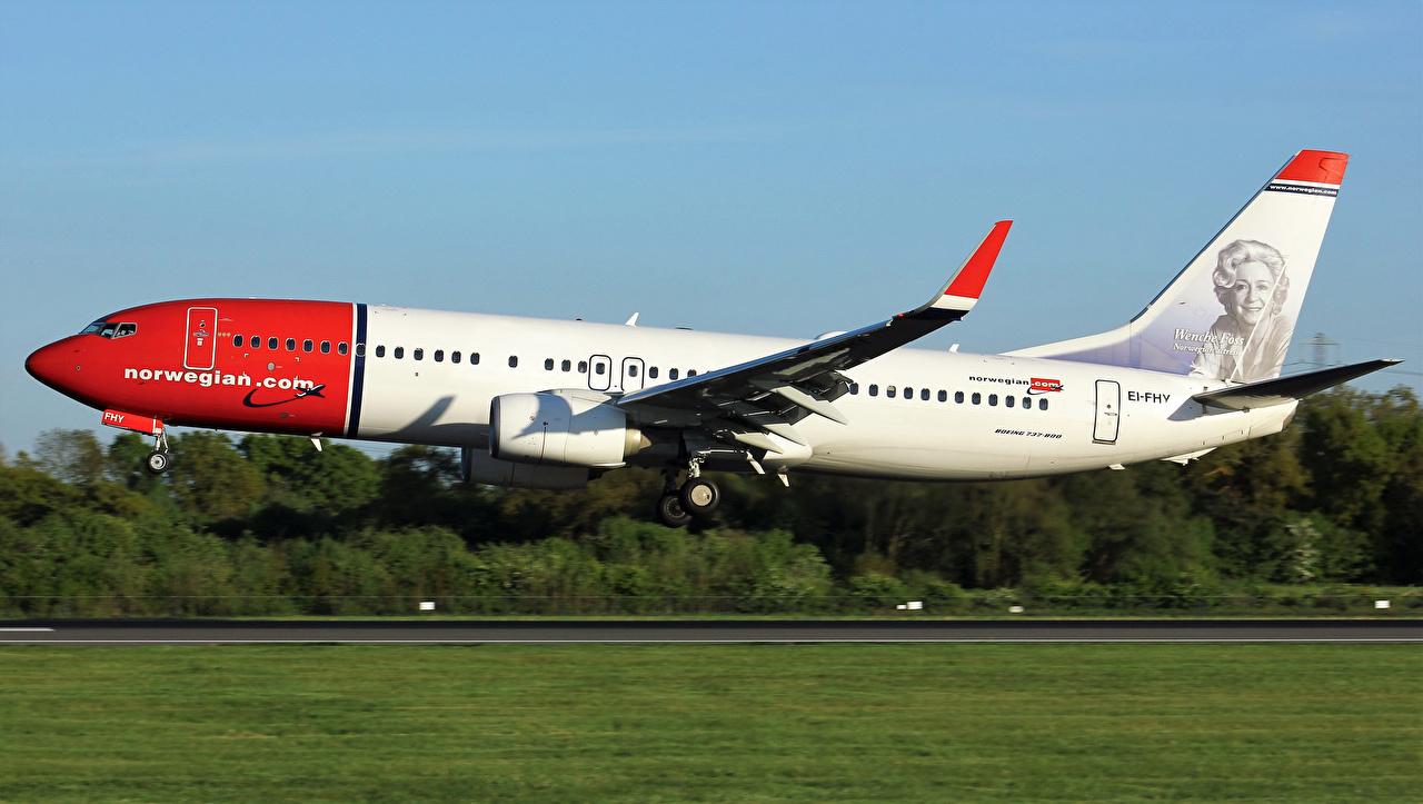 Обои Боинг Самолеты Пассажирские Самолеты Взлет 737-8JP Полет Авиация Boeing летящий