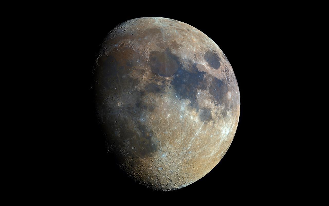 Фотография Космос Луна Черный фон луны луной на черном фоне
