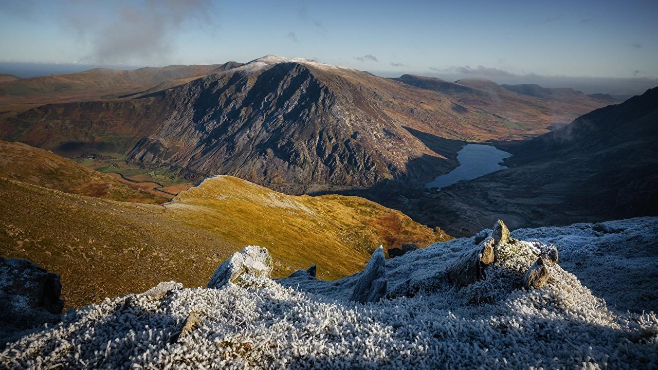 Картинки Уэльс Великобритания Glyderau, Snowdonia гора Природа Горы