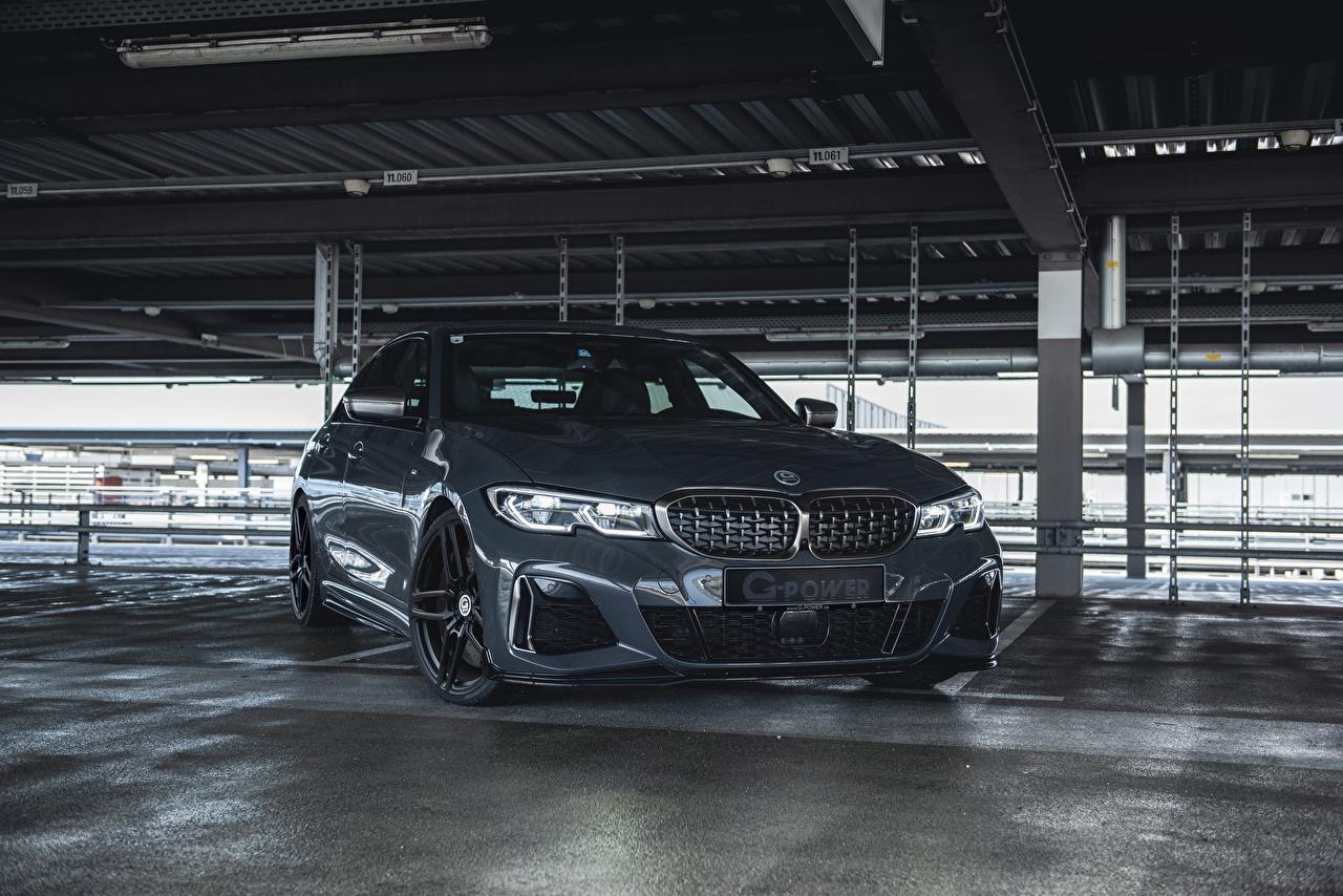 Фотографии BMW 2020 G-Power M340i серые машина Металлик БМВ Серый серая авто машины автомобиль Автомобили