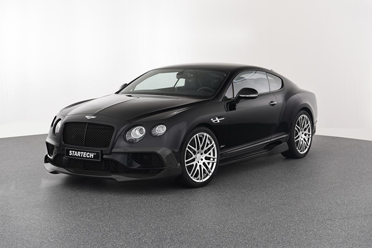 Картинки Bentley 2016-17 Startech Continental GT Speed черные Автомобили Бентли черная Черный черных авто машины машина автомобиль