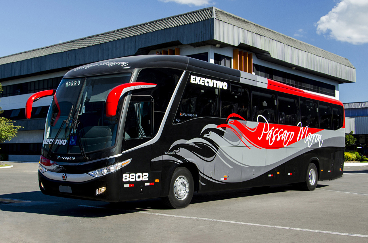 Картинка Тюнинг Автобус 2017 Marcopolo Paradiso 1200 Mercedes-Benz O 500 RS 4×2 Автомобили