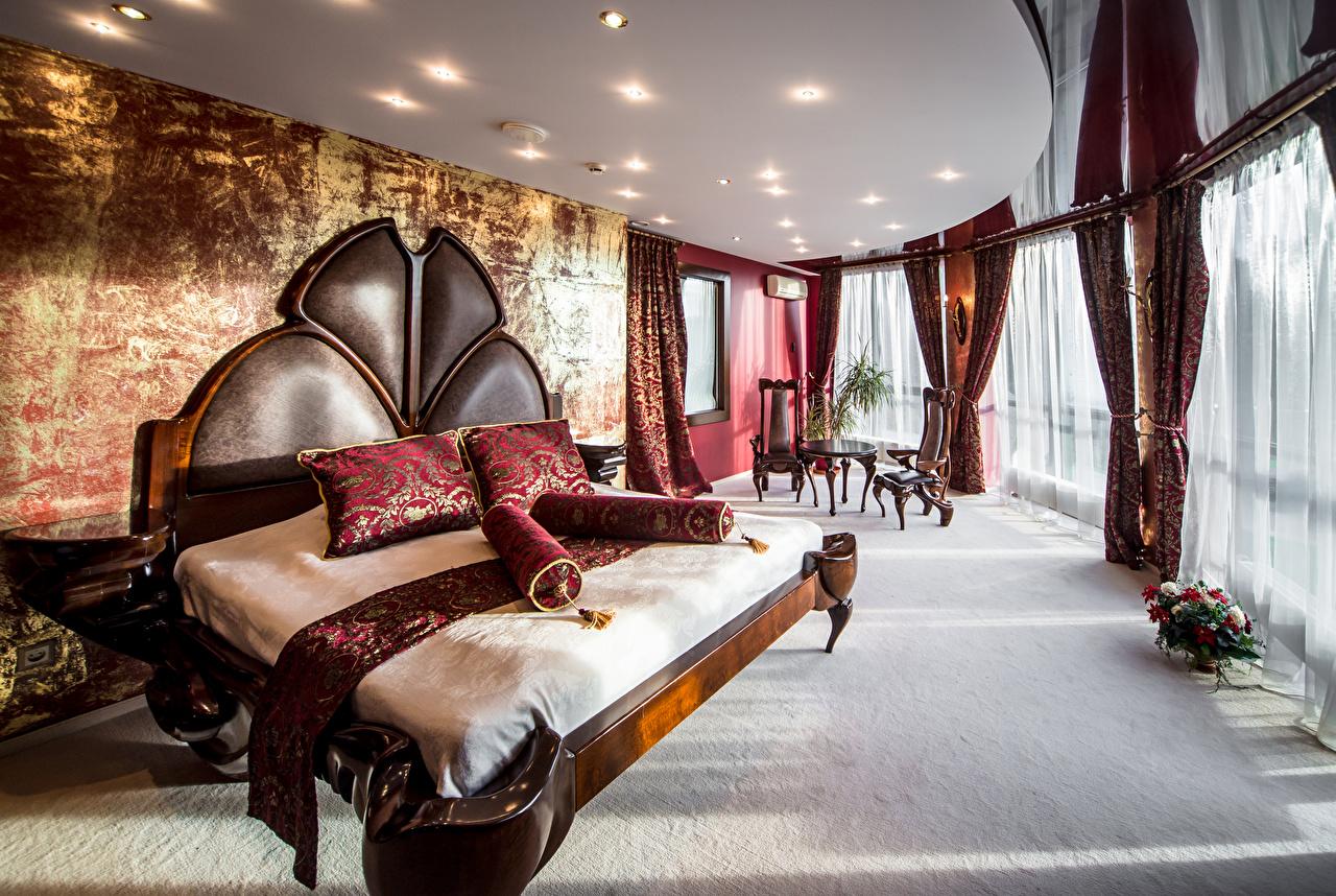 Обои Спальня Интерьер Кровать Подушки дизайна спальни спальне кровате кровати подушка Дизайн