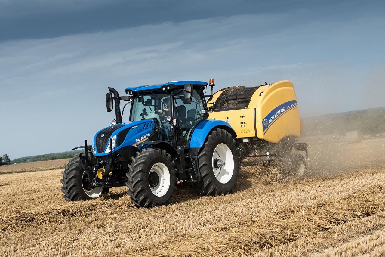 Картинки тракторы 2015-19 New Holland T6.175 Поля Трактор трактора