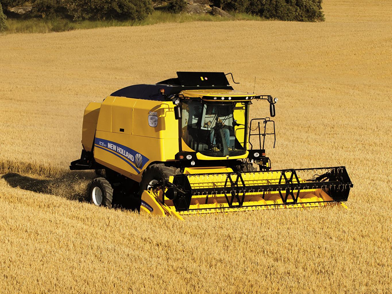 Фотография Сельскохозяйственная техника Зерноуборочный комбайн 2014-19 New Holland TC5.80 Поля