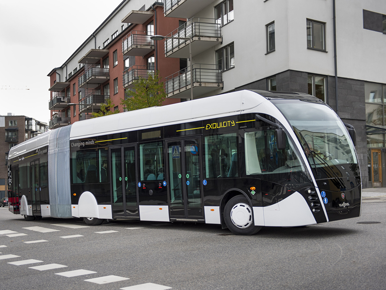 Фото Scania Автобус 2014 Van Hool Exqui City Машины Сканиа Авто Автомобили