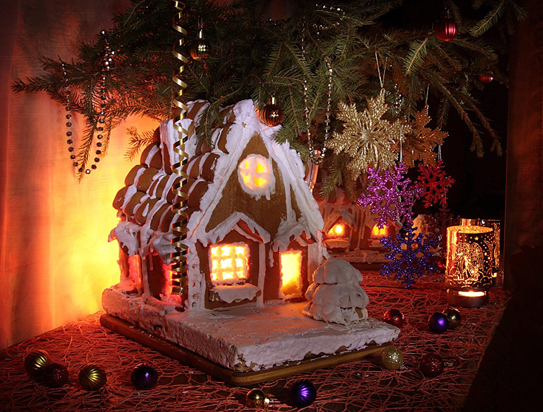 Картинки Новый год снежинка Еда Шар Свечи Здания Выпечка Натюрморт Дизайн Рождество Снежинки Пища Шарики Продукты питания Дома дизайна