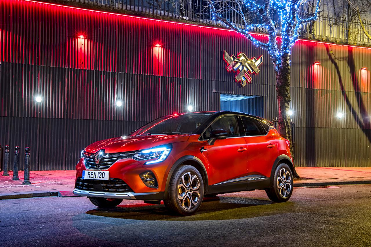 Обои для рабочего стола Рено Кроссовер 2019-20 Captur S-Edition красная авто Renault CUV Красный красные красных машина машины Автомобили автомобиль