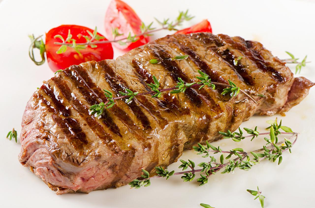 Фотография Еда Овощи Мясные продукты Пища Продукты питания