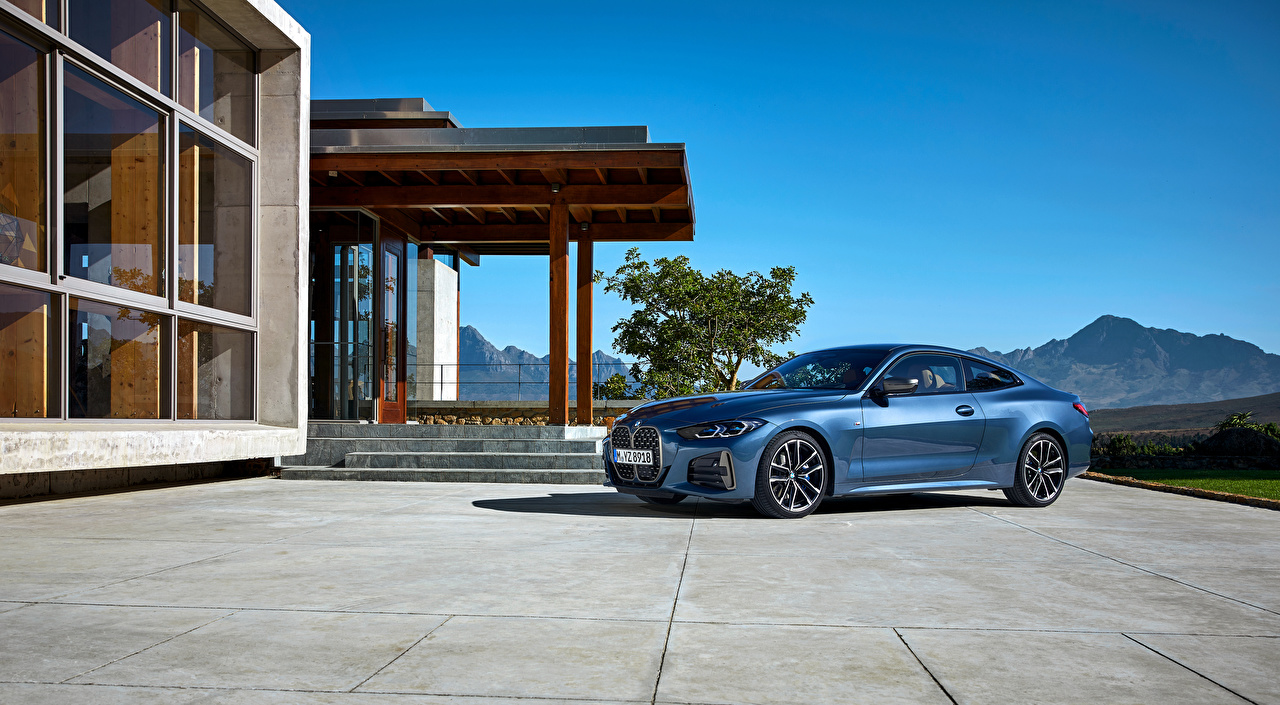 Фотография BMW 2020 M440i xDrive Coupé Worldwide Купе Голубой автомобиль БМВ голубая голубые голубых авто машины машина Автомобили