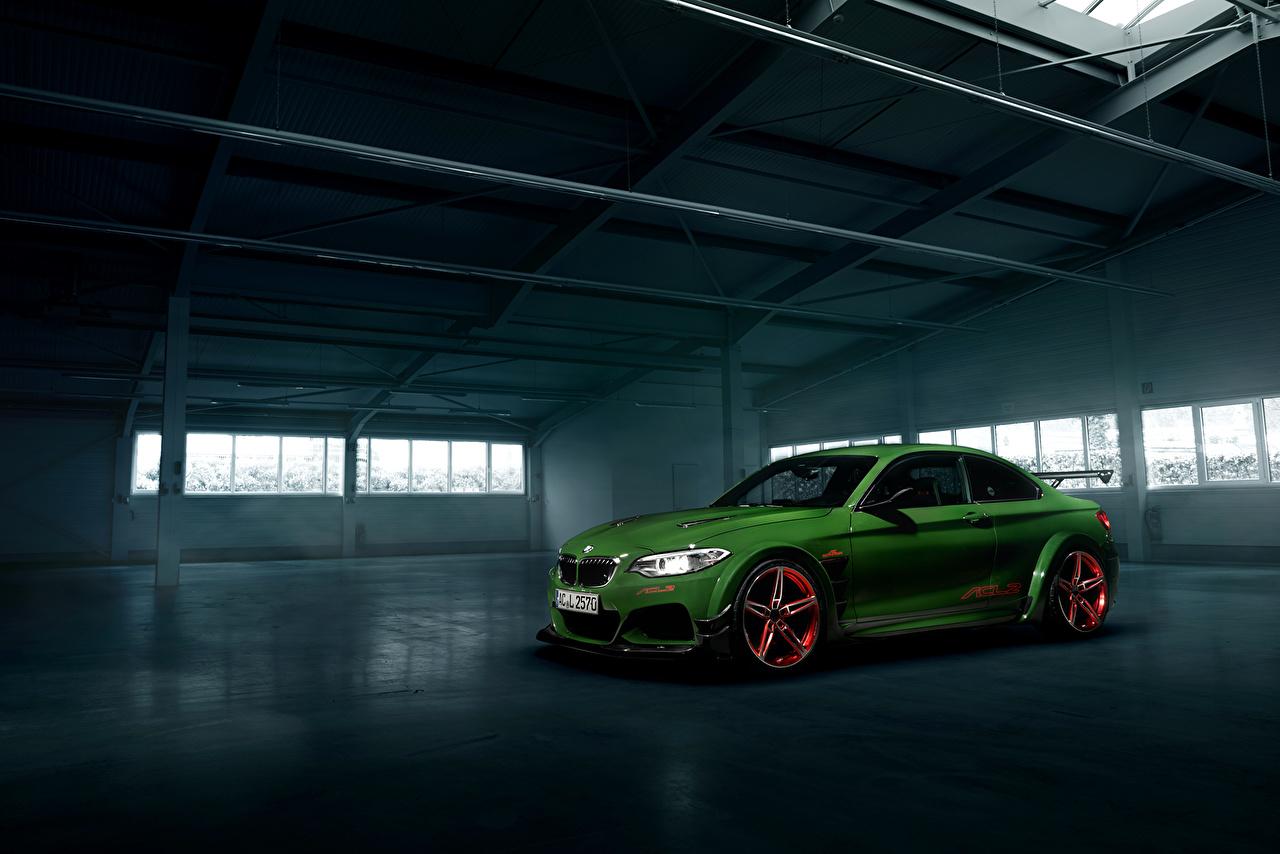 Обои для рабочего стола BMW Стайлинг 2016 AC Schnitzer ACL2 зеленые автомобиль БМВ Тюнинг зеленая Зеленый зеленых авто машины машина Автомобили