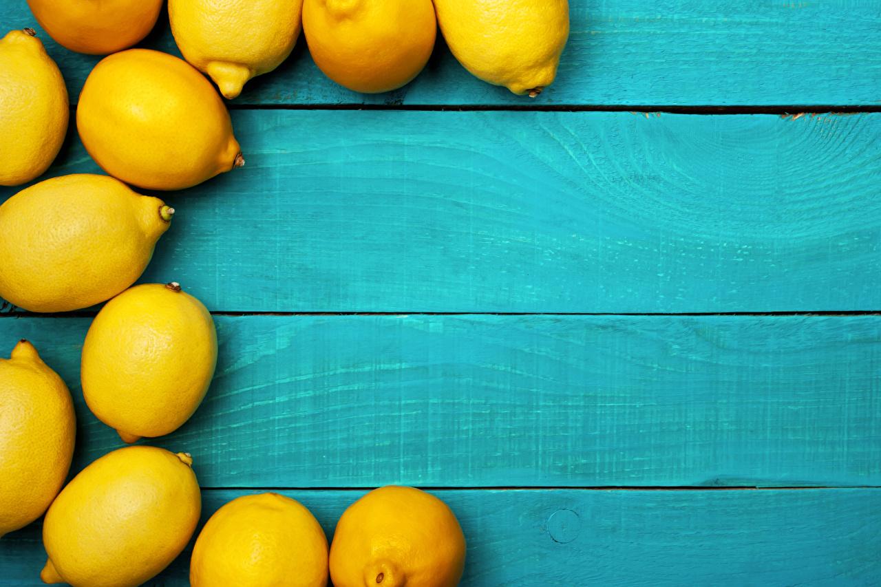 Обои для рабочего стола Лимоны Продукты питания Доски Еда Пища