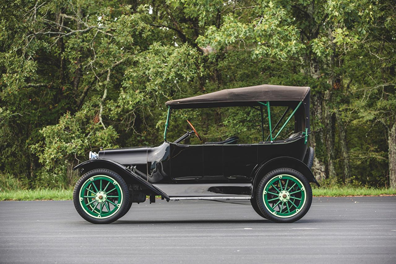 Фотографии Chevrolet 1919 Series 490 Touring Ретро черные Сбоку автомобиль Шевроле винтаж черная Черный черных старинные авто машины машина Автомобили
