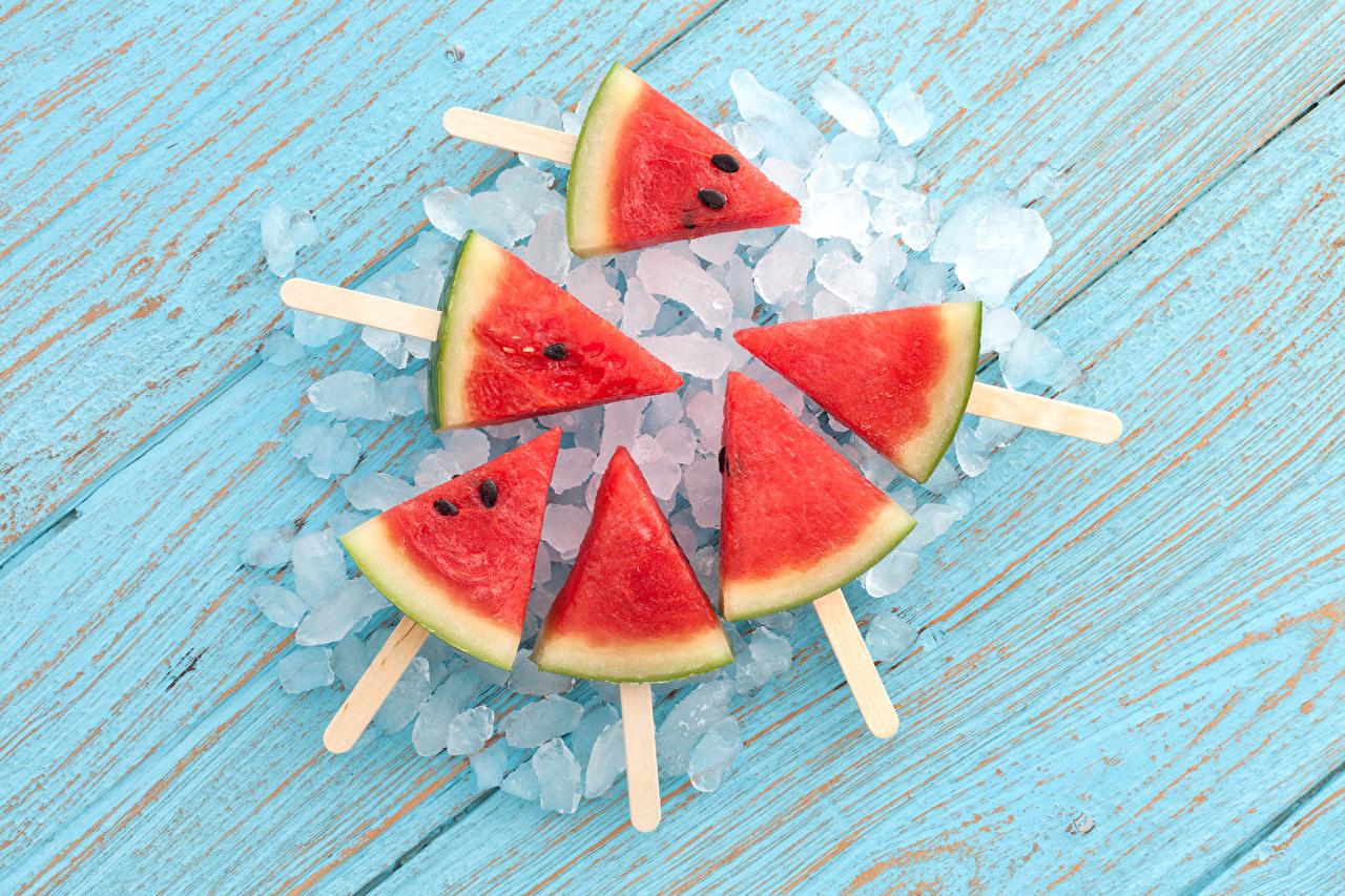 Обои Лед Кусок Арбузы Пища льда часть Еда Продукты питания