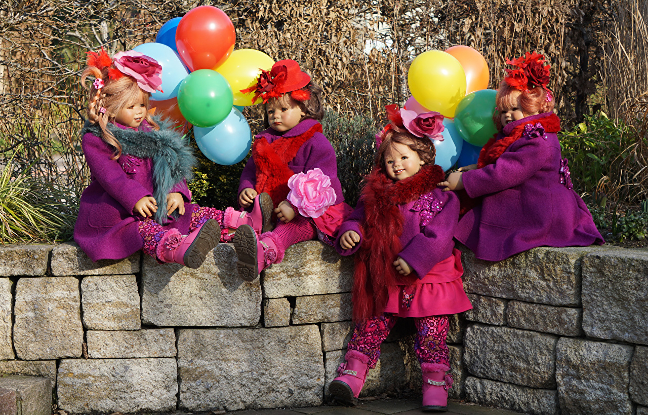 Картинка Воздушный шарик парк девочка  Grugapark Essen куклы воздушные шарики воздушным шариком воздушных шариков Парки Девочки Кукла