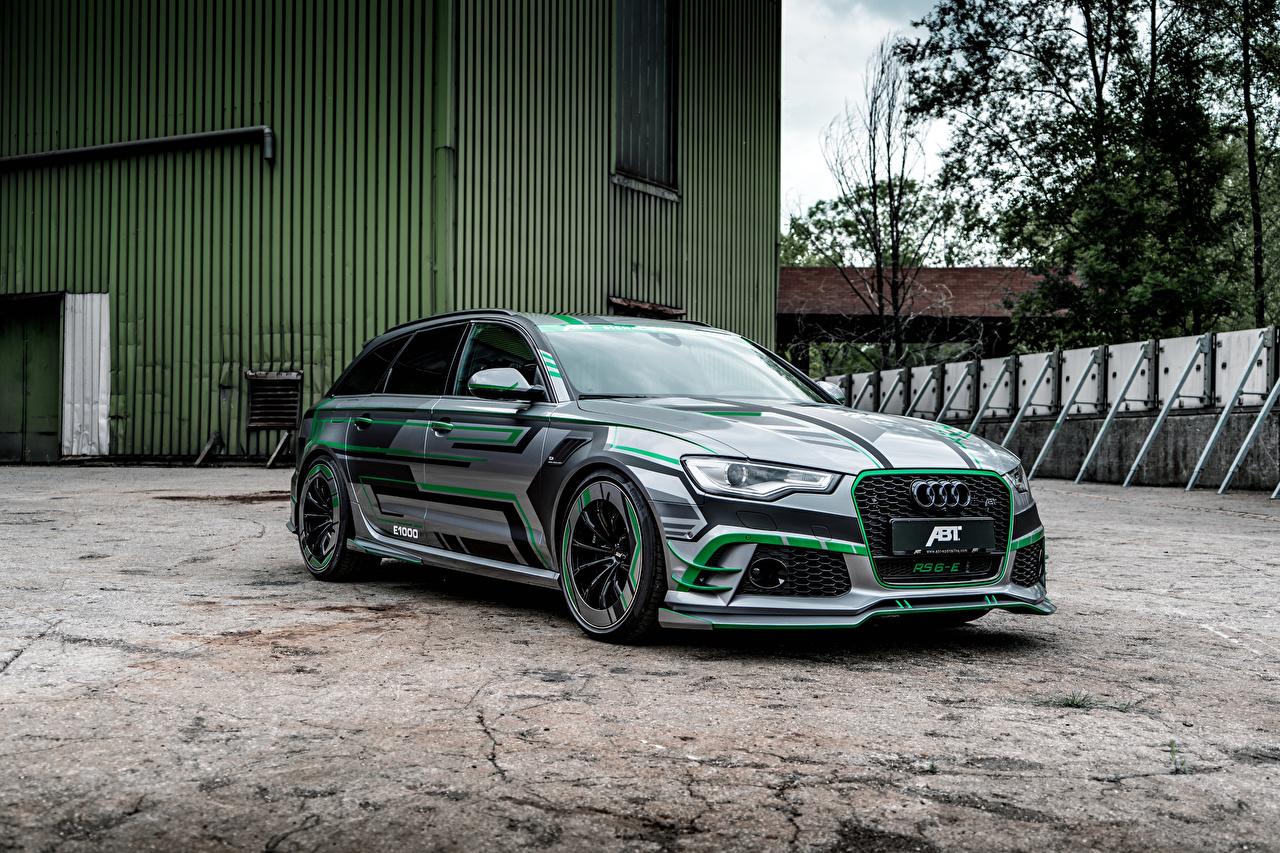 Обои для рабочего стола Audi Стайлинг 2018 ABT RS 6-E Avant Concept автомобиль Ауди Тюнинг авто машина машины Автомобили