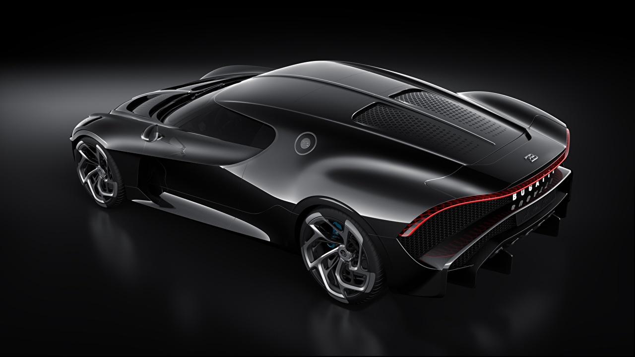 Фотография BUGATTI Карбон La Voiture Noire Черный авто Сверху карбоновая карбоновый карбоновые Углепластик черная черные черных машина машины Автомобили автомобиль