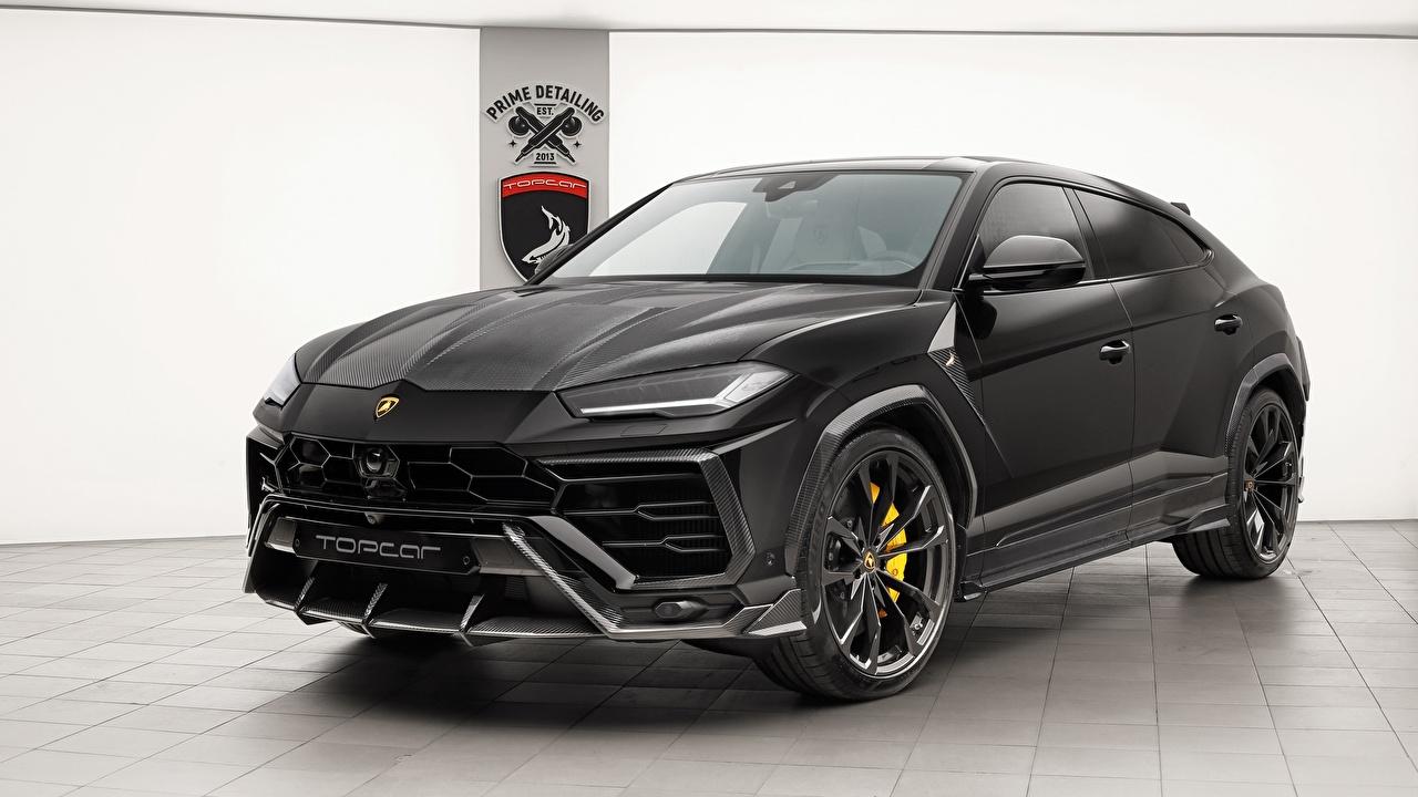 Обои Lamborghini 2018 TopCar Urus Черный Автомобили Ламборгини Авто Машины