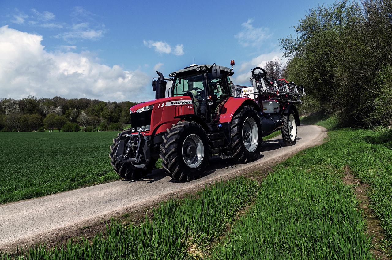 Фото Трактор Сельскохозяйственная техника 2014-17 Massey Ferguson 7720 Worldwide Дороги