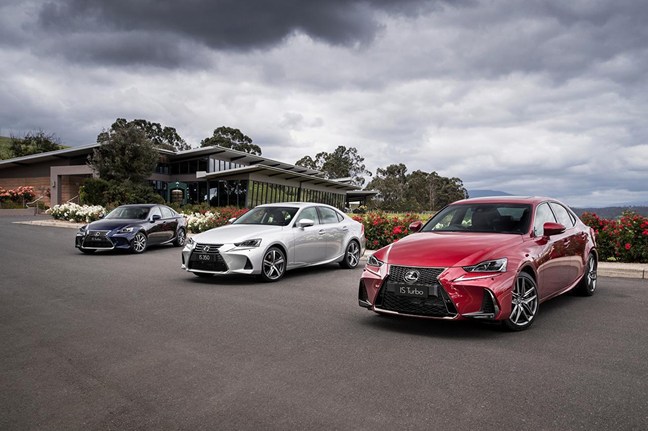 Картинка Lexus 2013-16 IS Трое 3 Металлик Автомобили Лексус три авто машина машины втроем автомобиль