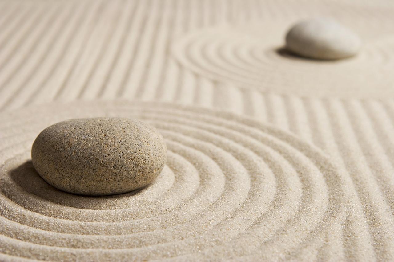 Картинка круг zen Природа песка Камни вблизи Круги окружность Песок песке Камень Крупным планом