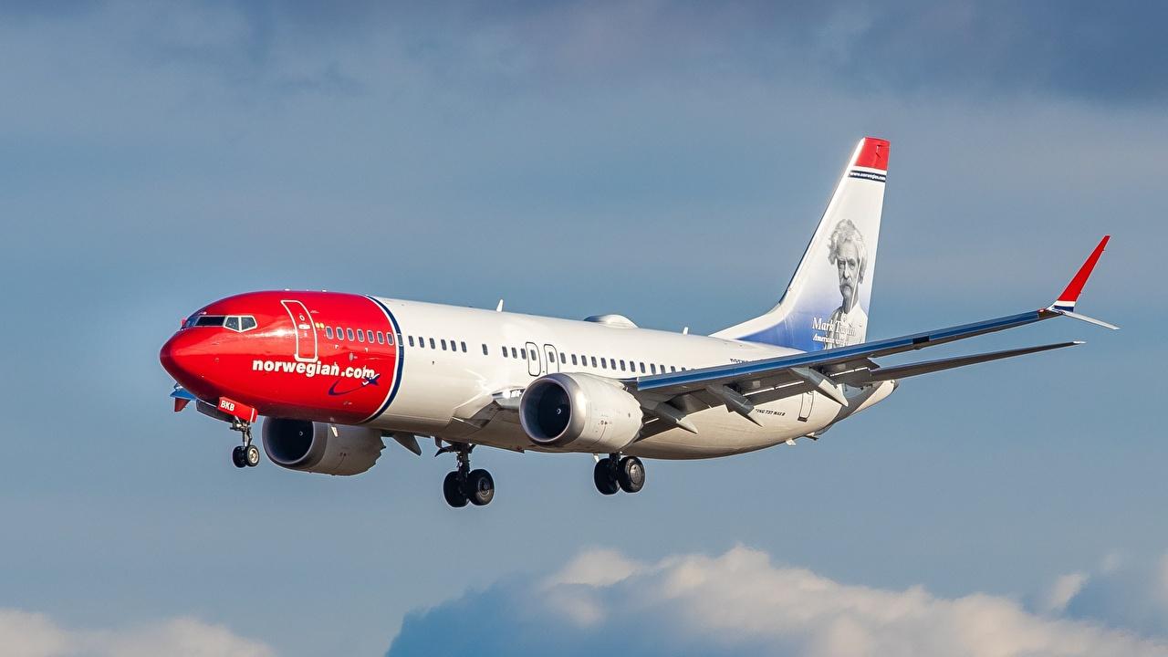 Фотографии Боинг Самолеты Пассажирские Самолеты Norwegian Air Shuttle 737-8 Авиация Boeing