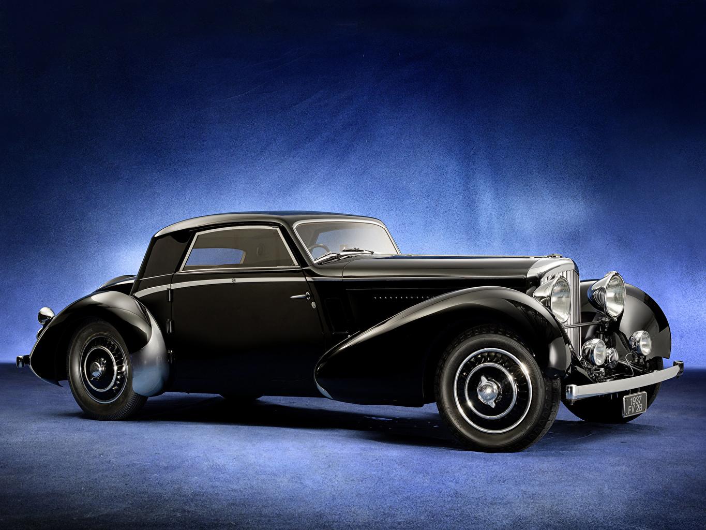 Картинки Бентли Стайлинг 1937 4 ¼ Litre Fixed Head Coupe (Vesters Черный Винтаж авто Bentley Тюнинг Ретро черных черные черная старинные машина машины автомобиль Автомобили