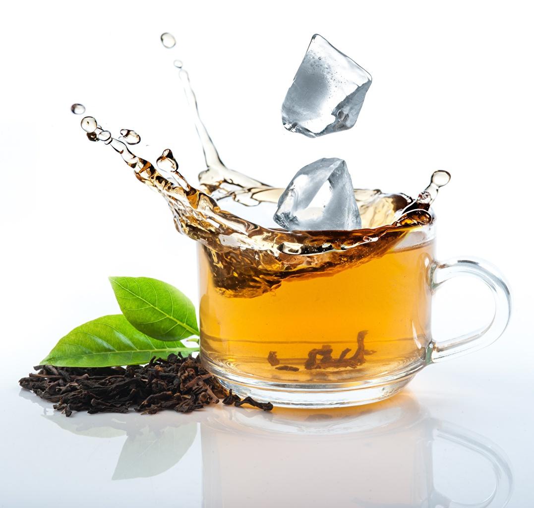 Фотография льда Чай с брызгами Чашка Продукты питания Лед Брызги Еда Пища чашке