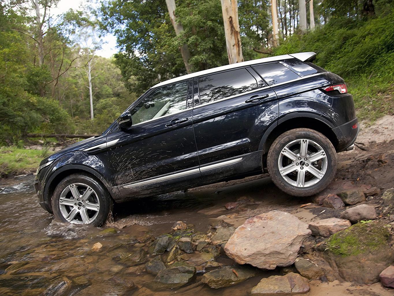 Фото Land Rover 2011 Evoque Prestige Черный Сбоку Автомобили Range Rover черных черные черная авто машина машины автомобиль