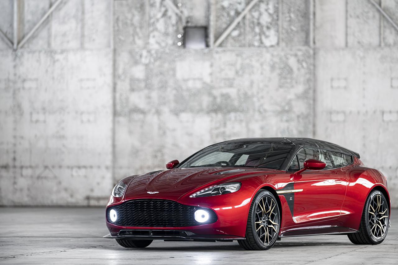 Картинки Aston Martin 2018-19 Vanquish Zagato Shooting Brake Zagato красные Металлик Автомобили Астон мартин красных Красный красная авто машина машины автомобиль