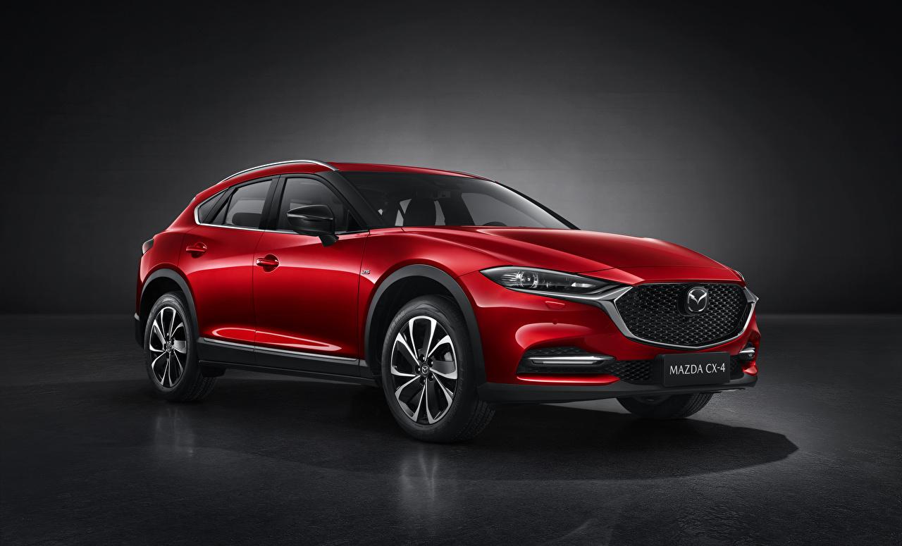 Фото Mazda Кроссовер CX-4, 2019 красная Металлик автомобиль Мазда CUV Красный красные красных авто машины машина Автомобили