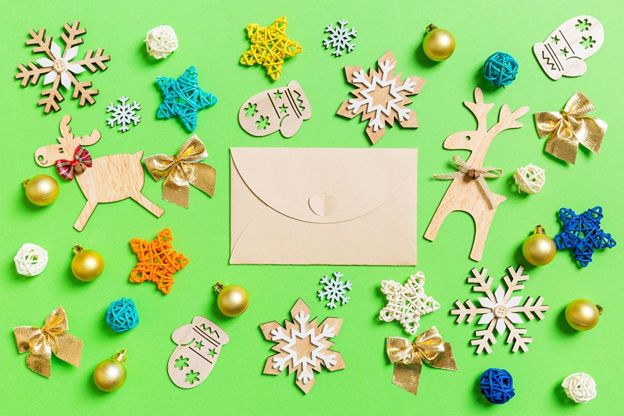 Фотографии Конверт Новый год варежках Звездочки снежинка письма Игрушки Рождество Варежки рукавицы рукавицах Снежинки Письмо игрушка