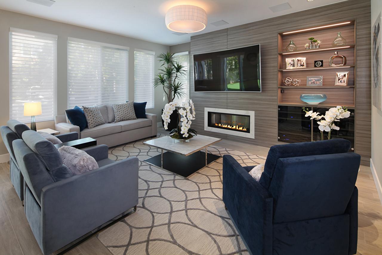 Обои для рабочего стола Гостиная Интерьер Кресло диване Дизайн гостевая Диван дизайна