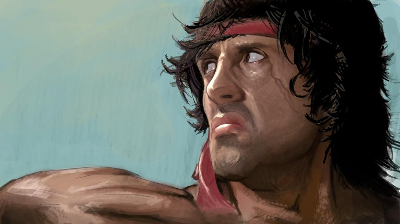 Фотография Sylvester Stallone Хмурость Rambo Лицо Фильмы Рисованные Сильвестр Сталлоне Недовольство лица кино