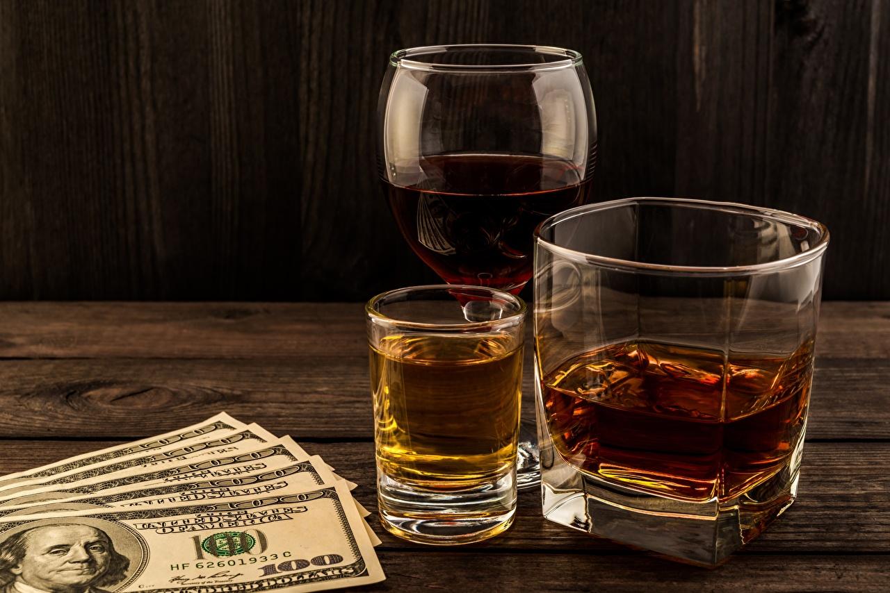 Фотографии Купюры Доллары Алкогольные напитки 100 Виски Стакан Еда Рюмка Банкноты стакане стакана Пища рюмки Продукты питания