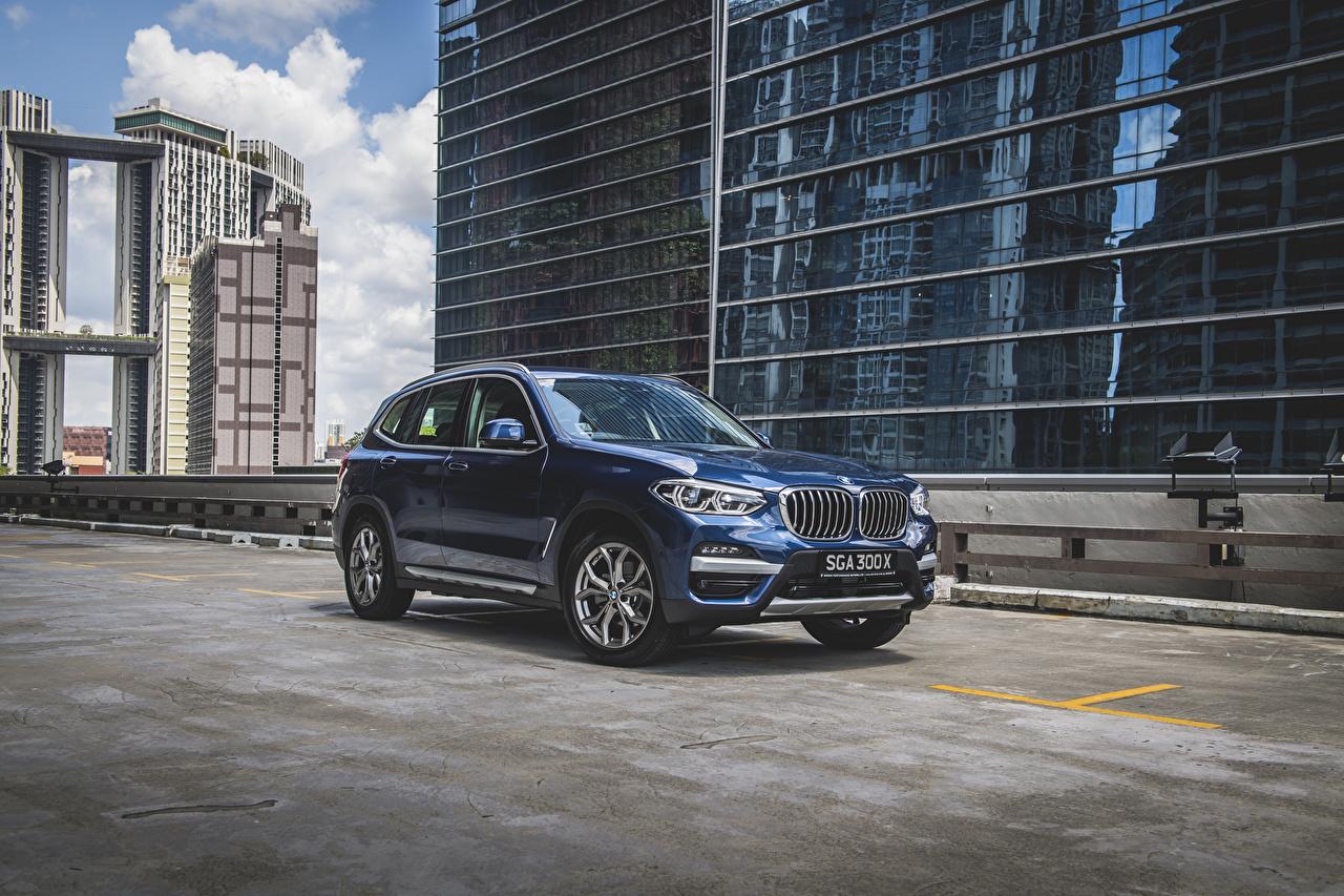 Фотография БМВ Кроссовер 2020 X3 xDrive30e xLine Синий Металлик Автомобили BMW CUV синяя синие синих авто машины машина автомобиль