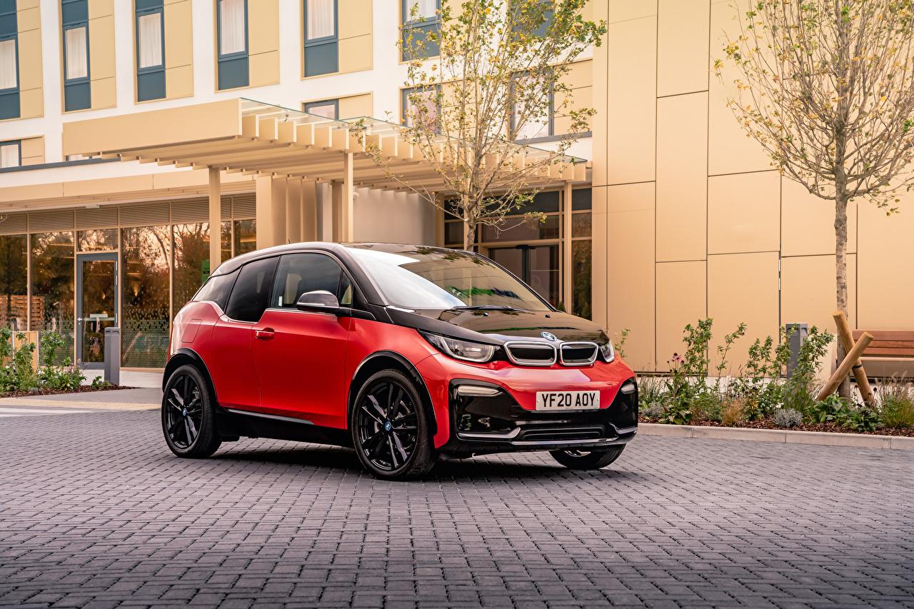 Фотографии БМВ i3s, UK-spec, (I01), 2018– красные Металлик автомобиль BMW красная Красный красных авто машины машина Автомобили