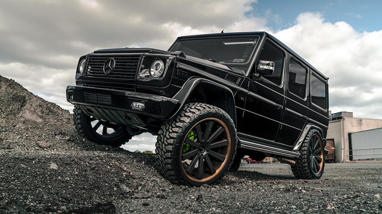 Фотографии Mercedes-Benz Гелентваген G63 Черный Авто Мерседес бенц G-класс Машины Автомобили