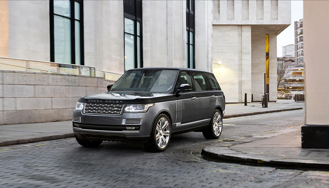 Фотографии 2015 Range Rover SV серые авто Land Rover серая Серый машина машины Автомобили автомобиль
