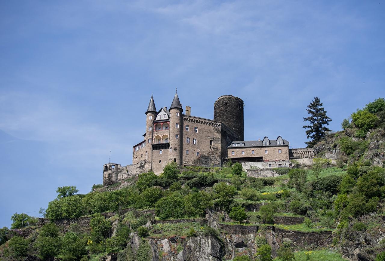 Фотография Германия Katz castle, Rhineland-Palatinate Замки Города замок город