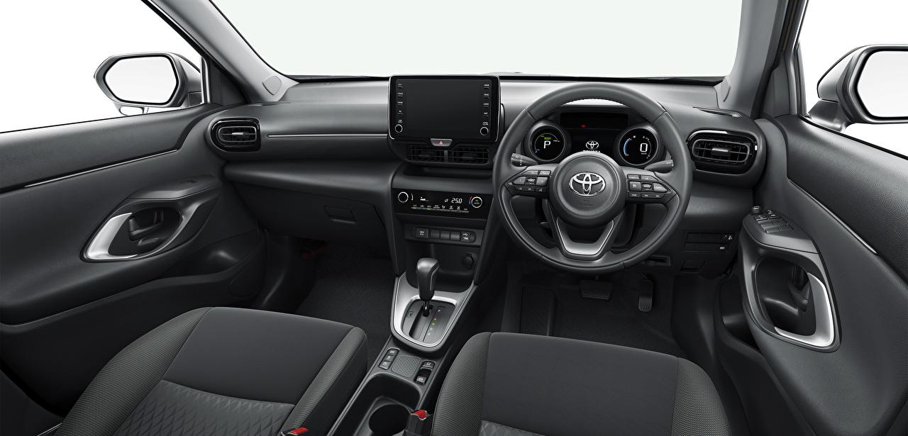 Картинки Toyota Салоны Кроссовер Рулевое колесо Yaris Cross Hybrid G, JP-spec, 2020 Автомобили Тойота CUV Автомобильный руль авто машины машина автомобиль