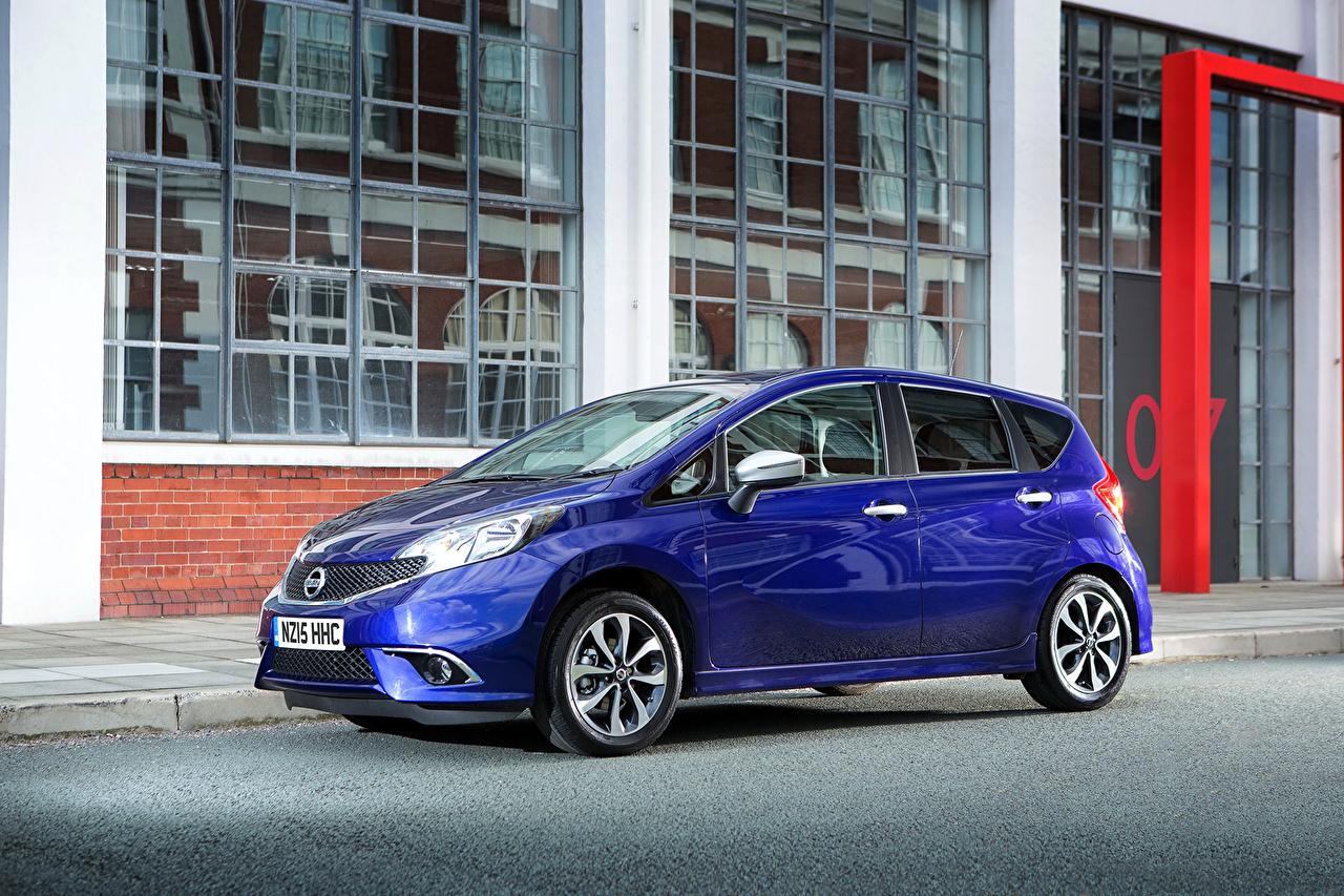 Картинки Nissan 2015 Note голубые Металлик Автомобили Ниссан голубая Голубой голубых авто машины машина автомобиль